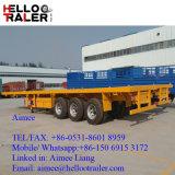Chinesischer Tri Flachbett-Behälter-ernster Transport-LKW-Schlussteil der Wellen-40FT