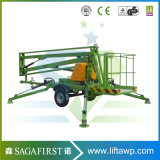 10m 14m Articulated Boom Lift Articulated Aircraft Hydraulic Battery