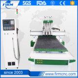Pneumatischer 4 Kopf-ATC hölzerner CNC-Fräser 1325 für Verkauf