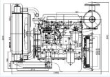 高性能のディーゼル機関QC490q