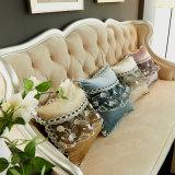 Le meilleur palier de coussin de maneton de Velvt de taille de sofa de décor de maison de modèle