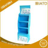 Constructeur d'étalage de carton de la Chine, étalage personnalisé de carton avec des crochets pour la cartouche d'impression