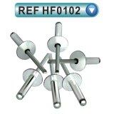 알루미늄 강철 열리는 유형 둥근 맨 위 장님 리베트 (HF0101가)