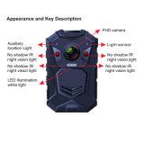 可聴周波およびビデオ録画が付いている警備員のボディによって身に着けられているカメラ