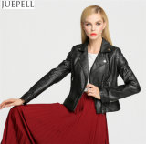 New Women Europe and America Fashion Short Paragraph Leather Jacket Leather Motocicleta Street Style Cool Black Women Jacket