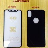 Nenhum protetor branco da tela do vidro Tempered de telefone móvel de tampa cheia da borda para o iPhone X 8 7 6 5 positivos