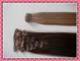 Реальное выдвижение человеческих волос Remy Зажим-в выдвижении волос