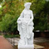 고품질 자연적인 백색 대리석 조각품, 여성 Statuet-6452
