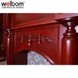 Welbom roja de antigüedades de madera maciza Muebles de Cocina
