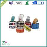 Cinta de embalaje impresa colorida personalizada de OEM para el sellado de la caja