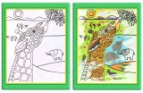 Progettare il libro per il cliente di panno della pittura dell'illustrazione dell'acqua dei bambini