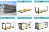 Конструкция портативной прочной Prefab дома контейнера полуфабрикат домашняя