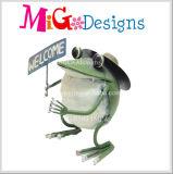 도매 기술 정원 훈장 금속 개구리