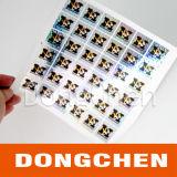 ドットマトリックスの金ホログラフィックステッカー