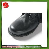 軍の本革の流行の黒い軍の戦闘用ブーツ
