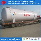 50cbm 100cbm 80000リットルの地上LPGのタンカーの上の120000リットル