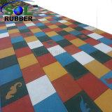 Mattonelle di pavimento di gomma esterne di gomma colorate di Graules