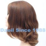 Parrucca europea dei capelli delle donne del Brown