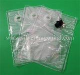 Kundenspezifischer Raum-transparenter Beutel des Schellfisch-3L im Kasten für flüssiges Paket
