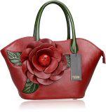 Borse di cuoio delle donne della signora Handbag 2018 della borsa di disegno della borsa dell'unità di elaborazione del fiore di modo (WDL0488)