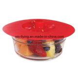 Mantendo alimentos frescos BPA livre de sucção de silicone Alimentação Tigela, panela, tampas de vaso