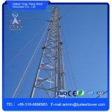 Torre de comunicação de aço de Guyed da sustentação múltipla do fio