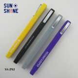 Stylet en plastique de promotion de forme carrée stylo à bille plastique