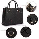 Signora Handbags (WDL0481) di modo della signora di sacchetto di cuoio dell'unità di elaborazione del sacchetto di spalla del computer portatile del sacchetto del messaggio delle donne borsa 2018