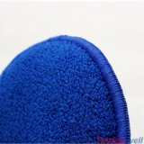 Navy Microfiber Round Because Cleaning Wash Sponge
