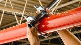 Tubo d'acciaio rosso della vernice ERW con il foro per lo spruzzatore del fuoco