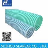 Manguera espiral de PVC con costillas de plástico