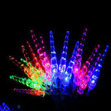 Outdoor LED Solar Crutch String Lights for Christmas Holiday Decoration