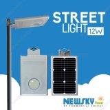 Todo en uno de LED de Energía Solar de la luz de la calle del sensor de movimiento de las luces de calle solar integrada