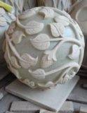 Lampen-Laterne des Sandstein-Kugel-Skulptur-im Freien Garten-LED mit Audiolautsprecher