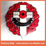 Значки Pin венка креста мака сувенира фабрики оптовые навальные дешевые