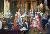 Handmade Royal classique Figure peintures sur huile pour la décoration murale