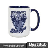 Bestsell 15oz Inner and Rim Color Sublimation Ceramic Photo Mug (B21T-07)