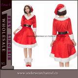 2018 Sexy ravissante robe de noël santa Sweetie adulte Costume (TLQZ051)