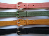 Custom Fashion Decorative PU Leather pin Buckle Belt Garment Accessories