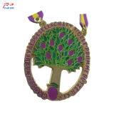 Customize gold Plating Tree Shape Metal Medal