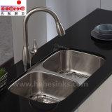 Bassin de cuisine d'acier inoxydable avec l'installation de dessous de support (7845A)