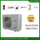 Tester freddo House+Dhw 12kw/15kw/19kw del riscaldamento di pavimento di inverno del mercato -20c dell'Europa 200sq nessuna pompa termica del compressore R410A Evi del rotolo del ghiaccio