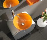 Italienische Art Belüftung-Badezimmer-Eitelkeiten mit orange Glasbassin