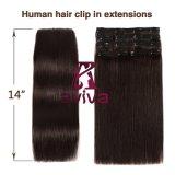 100 % Human hair extension clip dans les Extensions de cheveux 7PCS pour le plein la tête (AV-CHL07-14-2)