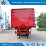 zijgevel 40ton 3axles/de Semi Aanhangwagen van de Vrachtwagen van de ZijDaling/van de ZijRaad/van de Lading stortgoed