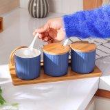 Keramisches Küchenbedarf-Glas-gesetztes keramisches Gewürz-Glas-Set