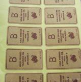 De alta calidad Kraft etiquetas engomadas de papel
