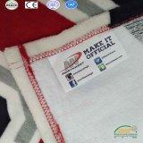 フラグによって印刷される織物のフランネルの羊毛の州の柔らかい投球毛布