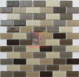 23*48mm de polvo brillante decoración de mosaico de vidrio satinado (CFC606)