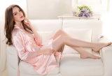 Pijamas de seda das mulheres por atacado da roupa de noite dos Bathrobes das senhoras